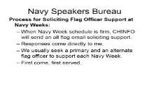 Navy Speakers Bureau PowerPoint Presentation