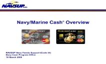 About Navy Marine Cash Overview Bureau of the Fiscal Service PowerPoint Presentation