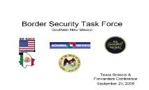 Border Security Task Force Southern New Mexico PowerPoint Presentation