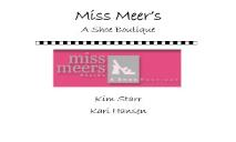 Miss Meers A Shoe Boutique PowerPoint Presentation