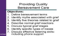 Bereavement Care Training PowerPoint Presentation