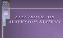 ELECTRONIC AIR SUSPENSION SYSTEMS PowerPoint Presentation