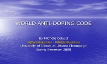 DOPING WHY DO THEY DO IT PowerPoint Presentation