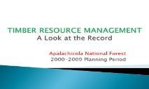 A ACCOMPLISHMENT RECORD Timberland Strategies PowerPoint Presentation