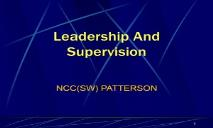 Leadership And Supervision Navy Medicine PowerPoint Presentation