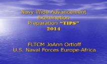 TIPS Navy Advancement PowerPoint Presentation