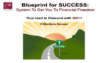 Blueprint for SUCCESS System To Get You To Financial Freedom PowerPoint Presentation
