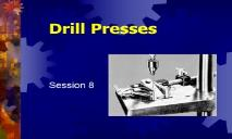 Drilling Machines Skilled Trades Math PowerPoint Presentation