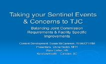 Reviewable Sentinel Events - Recent News Upcoming Events  PowerPoint Presentation