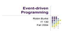 An Event driven Programming PowerPoint Presentation