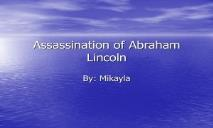 Assassination of Abraham Lincoln PowerPoint Presentation