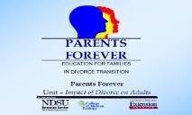 graph of children affected by divorce PowerPoint Presentation