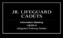 JR LIFEGUARD CADETS PowerPoint Presentation