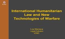 DRONES WARBOTS AND AUTONOMOUS WEAPONS SYSTEMS Mark PowerPoint Presentation