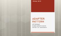 ADAPTER PATTERN PowerPoint Presentation