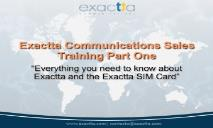 Sales Training Exactta Communications SIM Cards PowerPoint Presentation