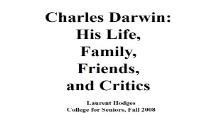 Brief biography of Charles Darwin 1809 - 1882 PowerPoint Presentation