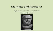 Marriage and Adultery PowerPoint Presentation