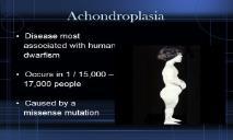 Achondroplasia University Project PowerPoint Presentation