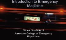 Introduction to Emergency Medicine PowerPoint Presentation