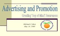 Advertising and Promotion PowerPoint Presentation