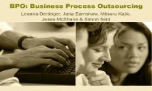 BPO Business Process Outsourcing PowerPoint Presentation
