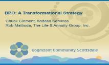 BPO A Transformational Strategy PowerPoint Presentation