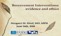 Bereavement Interventions PowerPoint Presentation