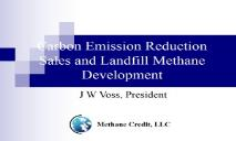 Carbon Emission Reduction Sales and Landfill Methane Development PowerPoint Presentation