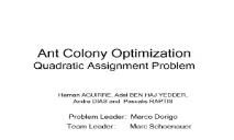 Ant Colony Optimization Information PowerPoint Presentation