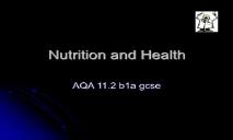 Nutrition and balanced diet PowerPoint Presentation