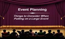 Event Planning Information PowerPoint Presentation
