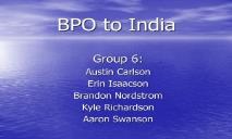 BPO to India PowerPoint Presentation