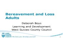 Bereavement and Loss Adults PowerPoint Presentation