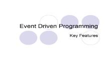 Event Driven Programmings PowerPoint Presentation