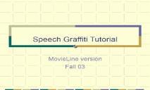 Speech Graffiti Tutorial Carnegie Mellon School PowerPoint Presentation