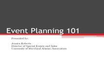 Event Planning PowerPoint Presentation