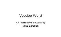 Voodoo Word Thomas Edwards Technological Art PowerPoint Presentation