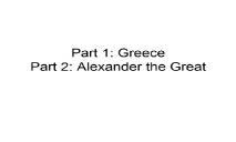 Alexander the Greats PowerPoint Presentation