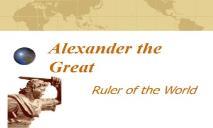 Alexander the Great Fulton County Schools PowerPoint Presentation