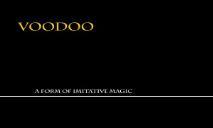 Voodoo World Culture Examiner Argosy University Online PowerPoint Presentation