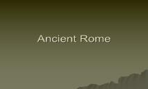 About Ancient Rome PowerPoint Presentation