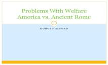Problems With Welfare America vs Ancient Rome PowerPoint Presentation