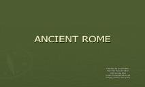 ANCIENT ROME Palmdale School District PowerPoint Presentation