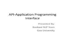 API Application Programming Interface PowerPoint Presentation