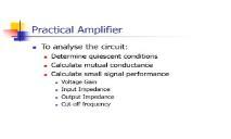 Common-Emitter Amplifier PowerPoint Presentation