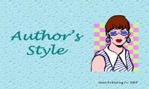 Authors StyleNashua School District PowerPoint Presentation