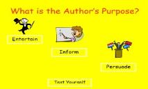 What is the Authors Purpose Rockingham County Schools PowerPoint Presentation