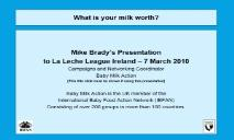 About Nestles baby food marketing malpractice PowerPoint Presentation