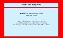 Nestles baby food marketing malpractice PowerPoint Presentation
